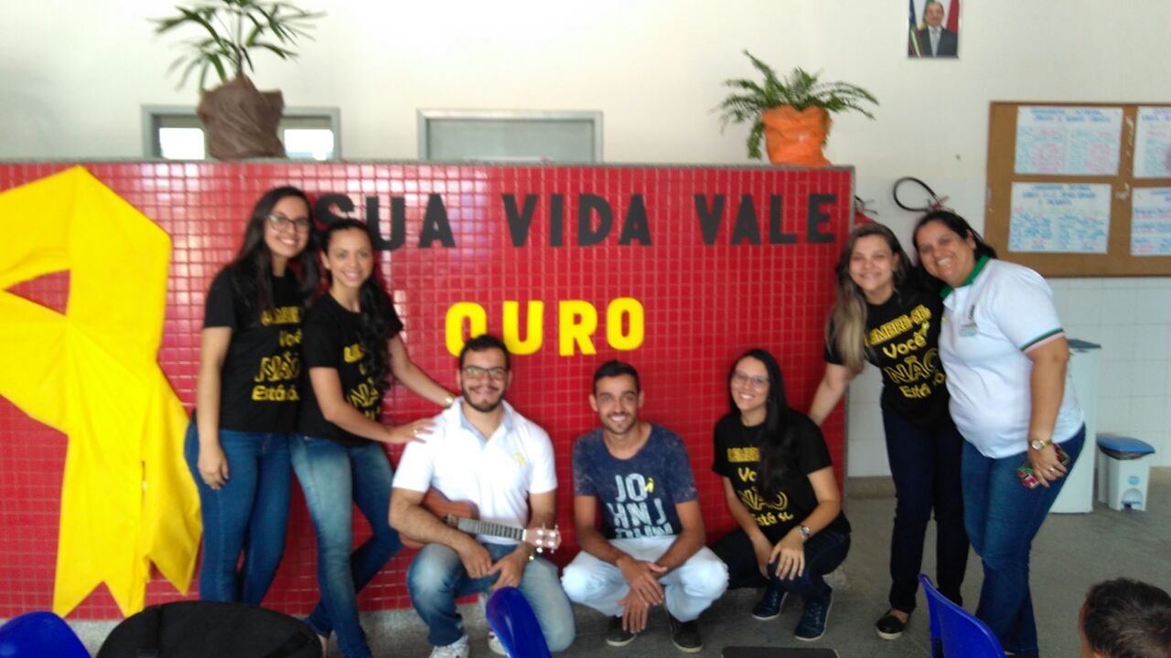 Alunos do programa Residência Multiprofissional em Saúde da Família, na UBS Davi Marcos, em Lagarto(Foto: colaboração professora Giselle de Carvalho Brito)